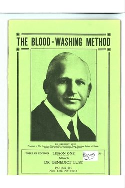 The Blood-Washing Method 250 x 375